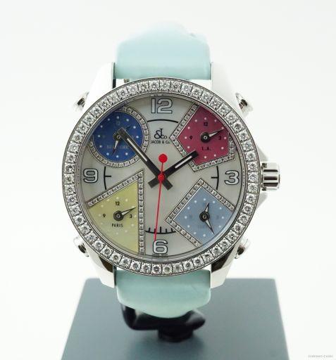 Jacob & Co. Five Time Zone MOP Dial Diamond Bezel 20749755 -