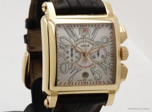 Franck Muller Conquistador Chronograph - 18k Pink Gold - Full Set - Very Good Condition Cortez10000HCC 2007