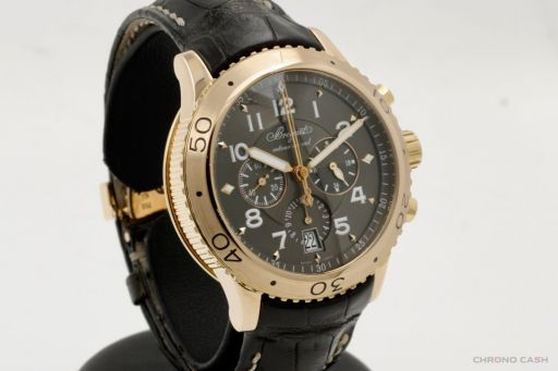 Breguet Transatlantique Type XXI Chronograph Pink Gold Case - Full Set - Very Good Condition 3810 2007