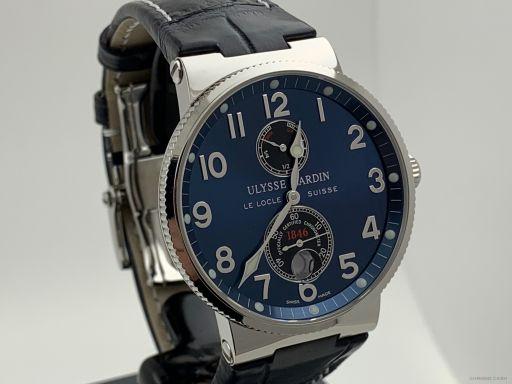 Ulysse Nardin Maxi Marine Chronometer 41mm Blue Like New 263-66 -