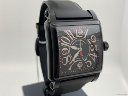 Franck Muller Cortez Conquistador Black Steel 45MM Automatic Full Set 10000 K SC NR 2008