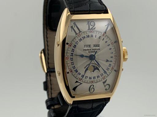 Franck Muller Master Calendar Curvex Lunar 18K Rose Gold Like New 5850 MC L 0